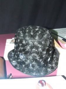 chapeau fait de réglisses